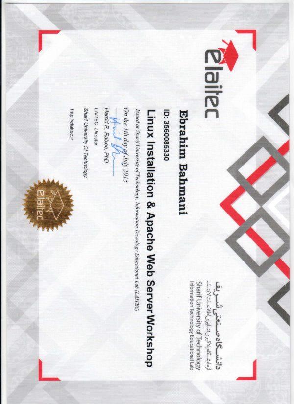 linux installation @ apache web server workshop